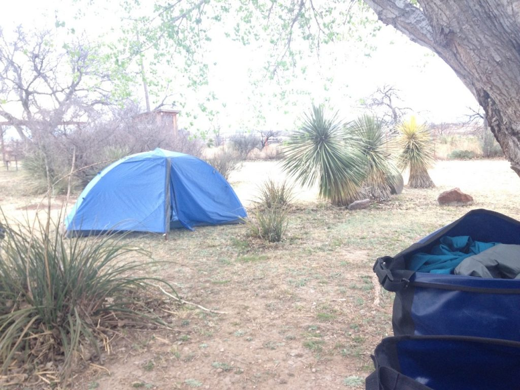 Camping in Marathon, Texas